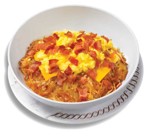 bacon egg and cheese Hashbrown Bowl