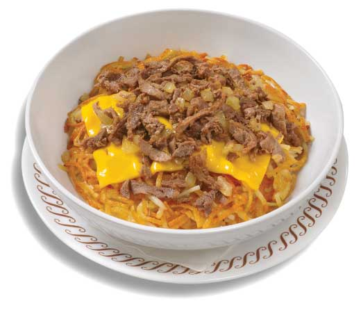 Cheesesteak Melt Hashbrown Bowl