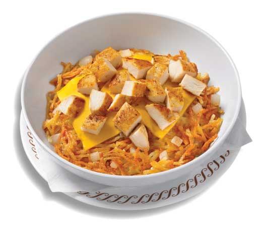 Chicken Melt Hashbrown Bowl