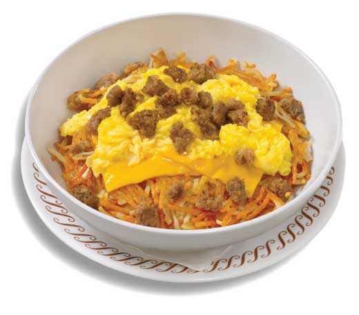 sausage egg and cheese Hashbrown Bowl