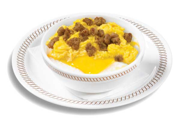 Sausage Egg and Cheese Grits Bowl
