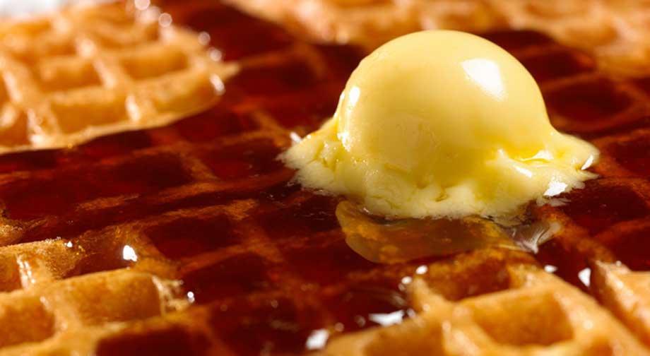 Waffle menu items