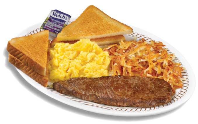 Sirloin and egg breakfast