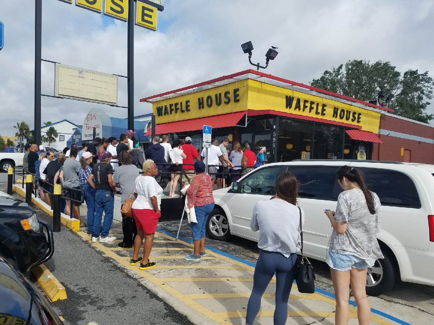 event at Waffle House restaurant