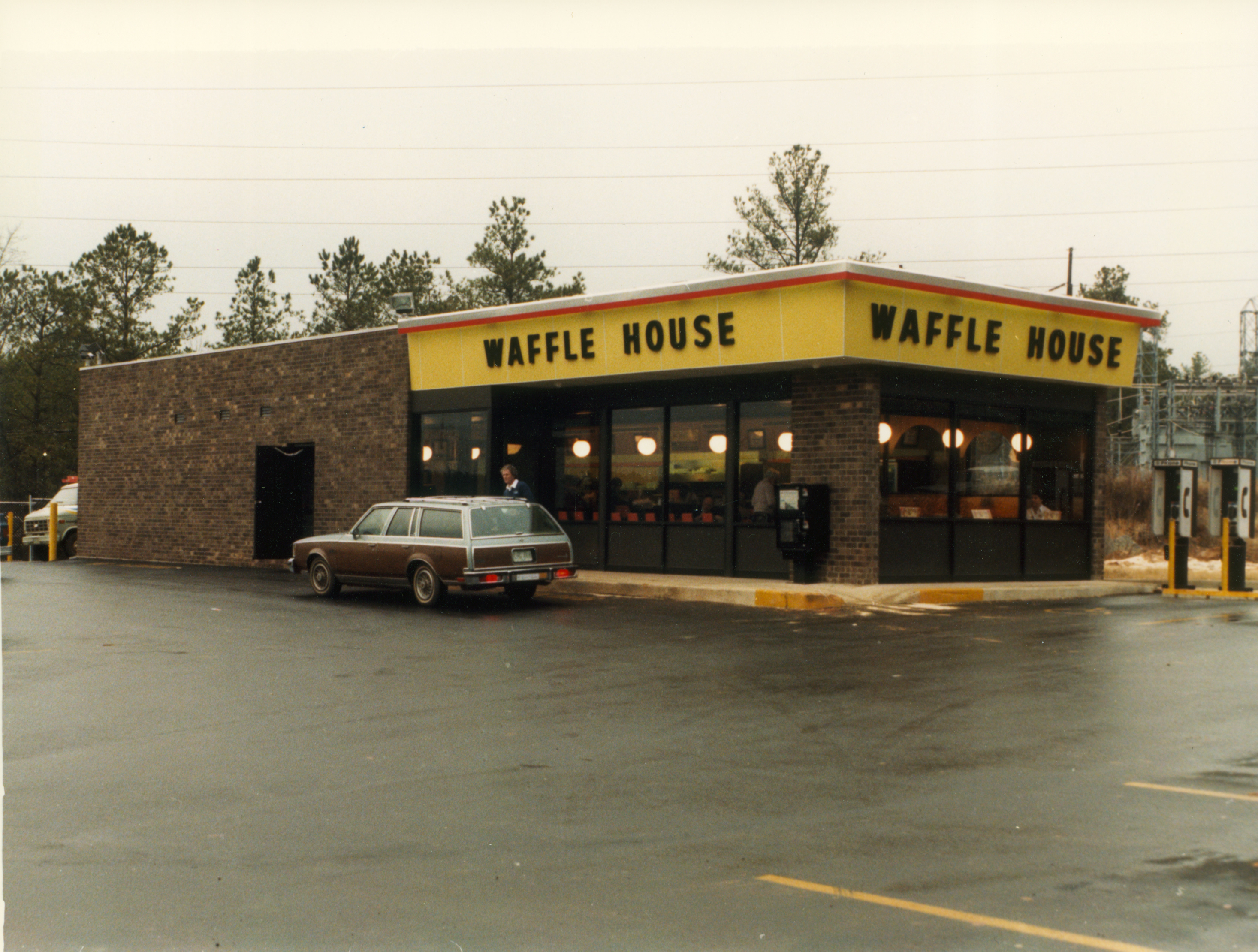 Exterior of Waffle House restaurant