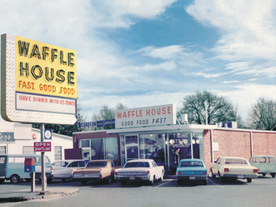 exterior of original Waffle House restaurant